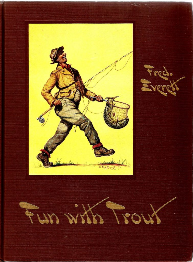 The Front Cover of Fun With Trout: Trout Fishing in Words, Paint & Lines by Fred Everett